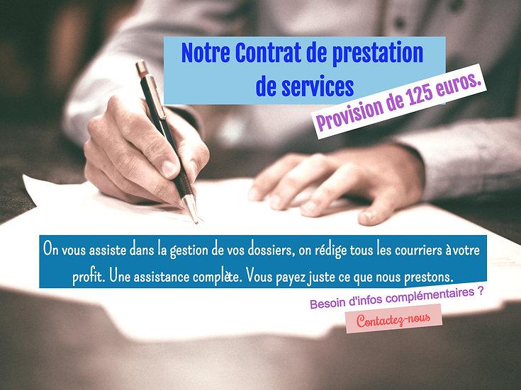 Contrat de prestation de Service - Provision en ligne