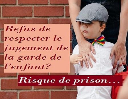 refus de présenter l'enfant lors d'un droit de visite, c'est une infraction pénale.