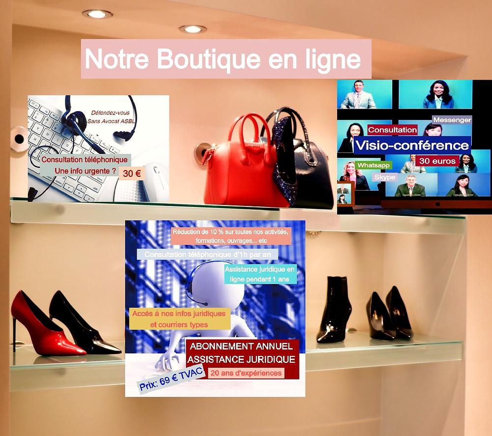 Abonnement, conseil juridique, consultation en ligne, visioconférence; consultation gatuite.