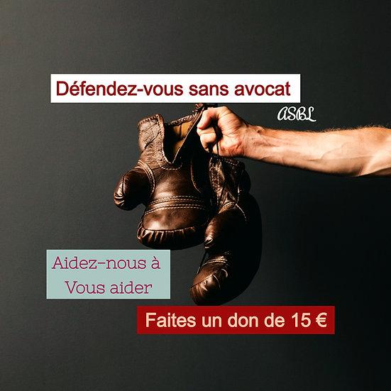 Faites un don de 15 euros - soutenez-nous.