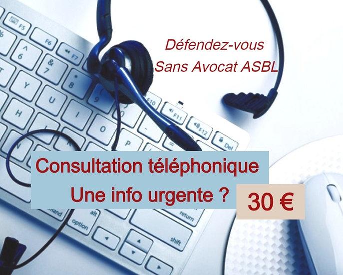 Consultation téléphonique (Durée maximale 1heure)