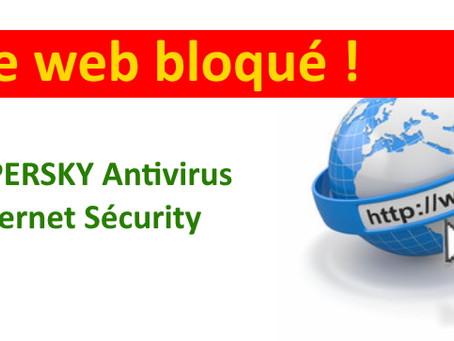 Quand Kaspersky antivirus empêche un site web de charger