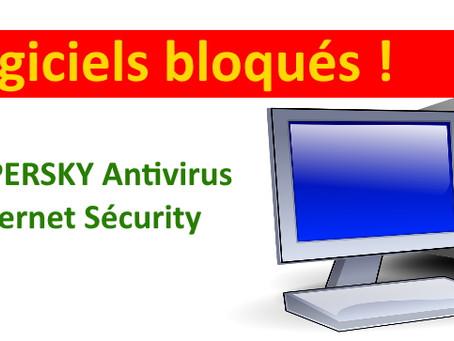 Quand Kaspersky antivirus empêche une application ou un logiciel de démarrer