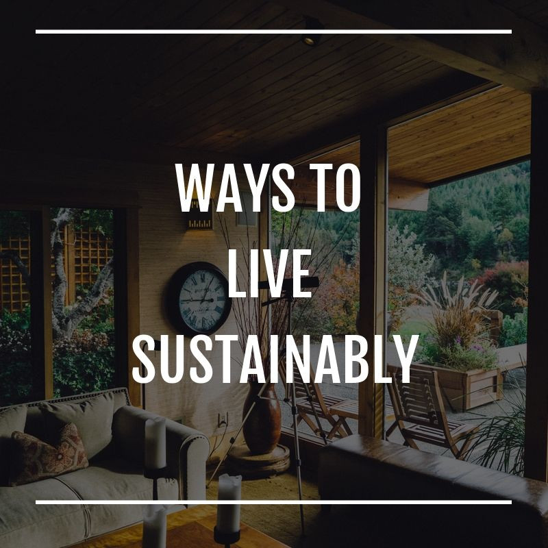 Ways to live sustainably by The Sustainable Soprano