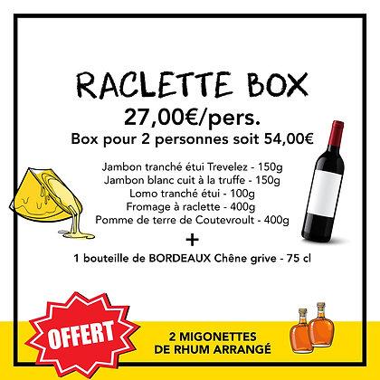RACLETTE BOX - 27,00€/pers. Box pour 2 personnes