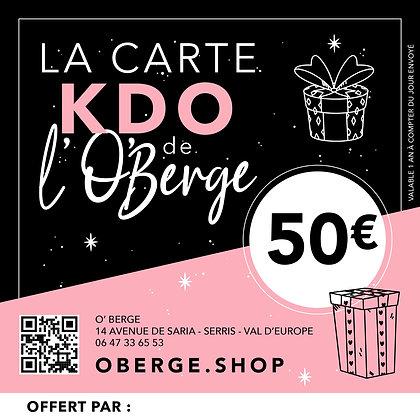 CARTE KDO - 50,00€