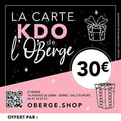 CARTE KDO - 30,00€