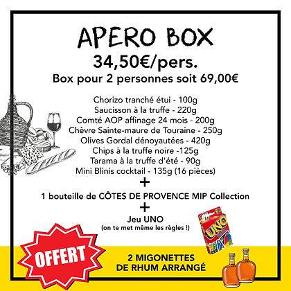 APÉRO BOX - 34,50€/pers. - Box pour 2 personnes