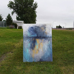 This painting matches the weather