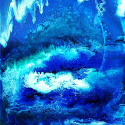 I painted this one last night. It reminds me of a deep sea cave or something..