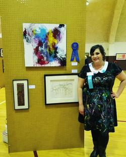 Ashley Kunz at Hawley Art Show