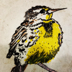 painting this {little} guy on a piece of tile. he's going to be part of a submission for an art pro