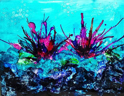 Sea Life, 2016_Alcohol ink on Yupo, 11x14_ _#alcoholink #mixedmedia #ocean #sea #underthesea #yupo #