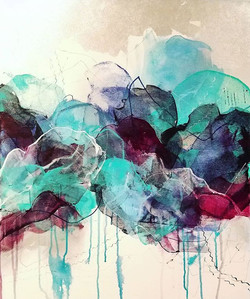 This is the painting I created last weekend during the FMVA Studio Crawl