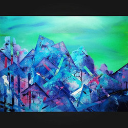 Can I go live here___Emerald Skies__24x36___#emerald #painting #fineart #instaartist #fmgram #fargom