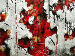 State of my Head, 2016_Acrylic and ink, 36x48__#liquitex #modernart #contemporaryart #texture #paint