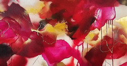 Happy Valentines Day! This painting is titled _Be Still My Heart_ so I thought it would be fitting f