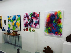 Spending my evening enjoying art and good company  _revlandgallery _These are 3 of my brightest and
