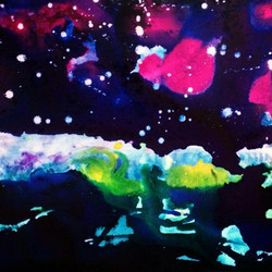 _liquitex_usa ~ there is something {magical} about this one, it feels like a galactic winter scene..