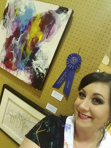 Ashley Kunz at the Hawley Art Show