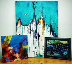 I'm super excited to drop these paintings off tomorrow at the Memorial Union Gallery for the FMVA Ju