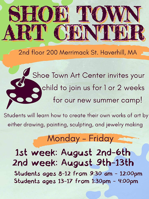 Summer ART Camp for Kids and Teens!