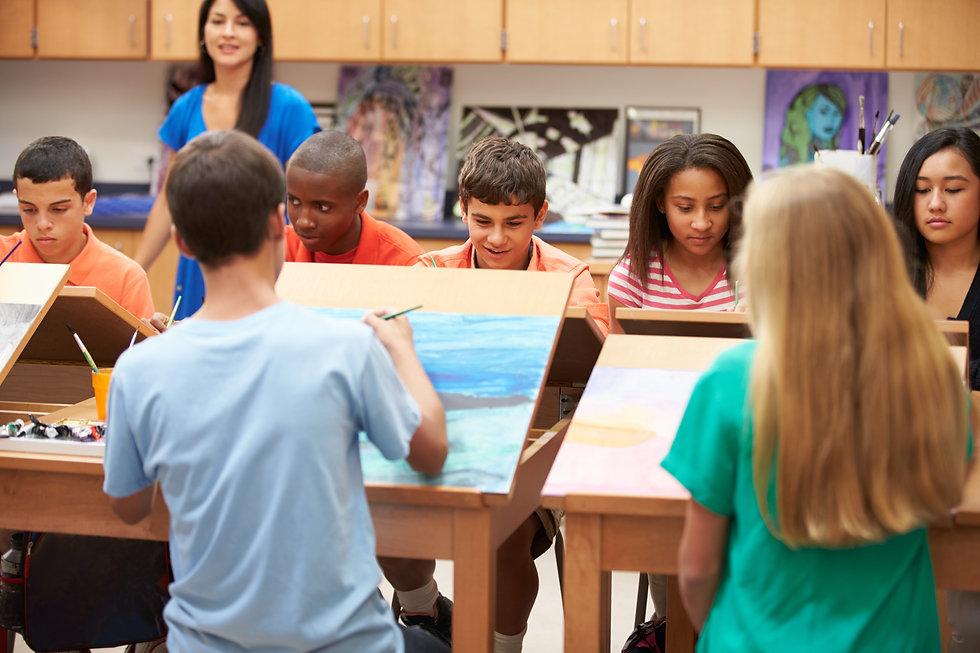 High School Art Class With Teacher.jpg