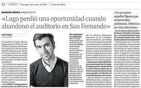 03/06/2017. La Voz de Galicia / Interview