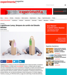 07/14/2016. The LIGHTHOUSE lamp in EXPERIMENTA Mag