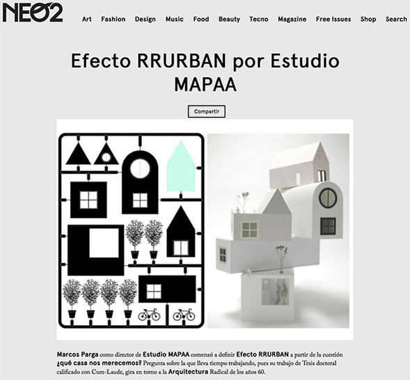 03/08/2017. RRURBAN featured in NEO2 Mag