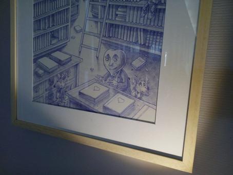 Exposition Bleu de Toi : du crayon à la tablette numérique
