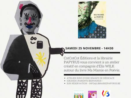 Atelier créatif à la librairie Papyrus, Namur