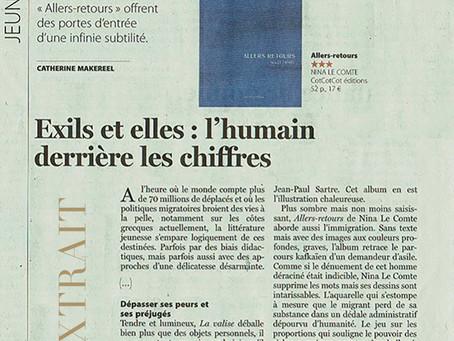 Allers-Retours : un premier article dans le quotidien belge Le Soir