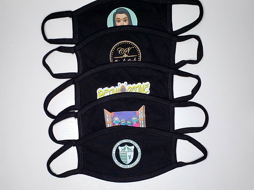 CUSTOM WITH IMAGE (BLACK) - WASHABLE & REUSABLE FACE MASK