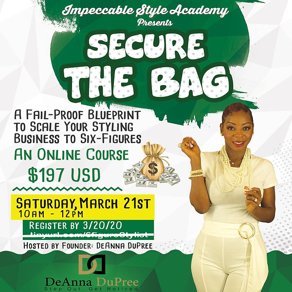 Secure the Bag Promo