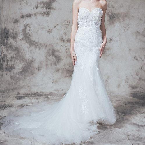 WGH008 - 心形胸lace魚尾婚紗