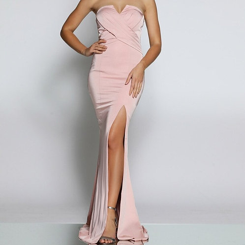 JX102 - 澳洲品牌Jadore前開叉粉紅色晚裝