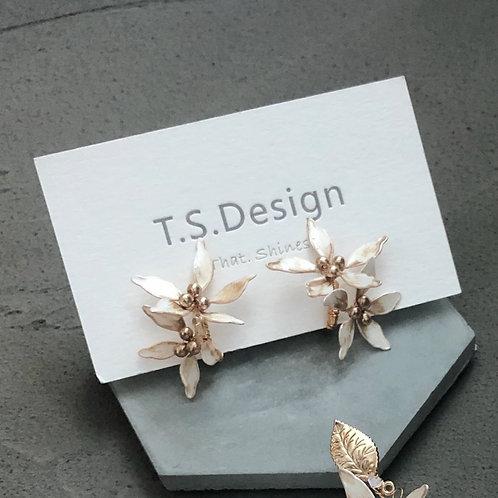虎紋花-金葉虎紋花耳夾(需兩星期製作)