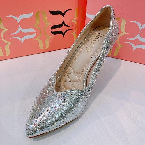 ReSarah台灣手工婚鞋 - 銀色尖頭高跟鞋
