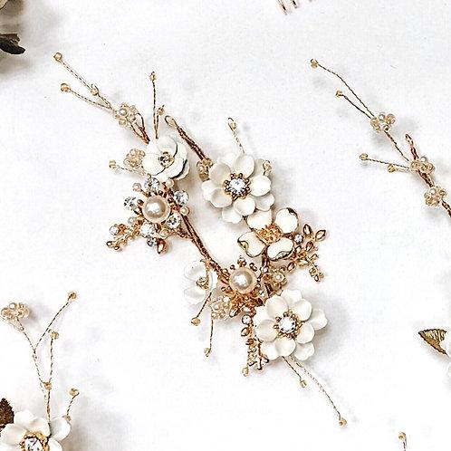 純真年代-珍珠白花兩用髮飾 (需兩星期製作)