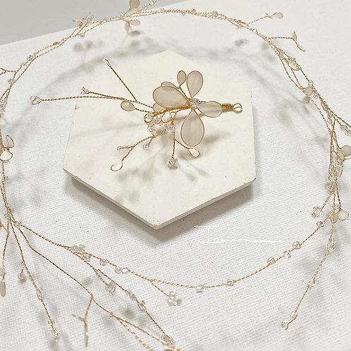 珍珠白花環(需兩星期製作)