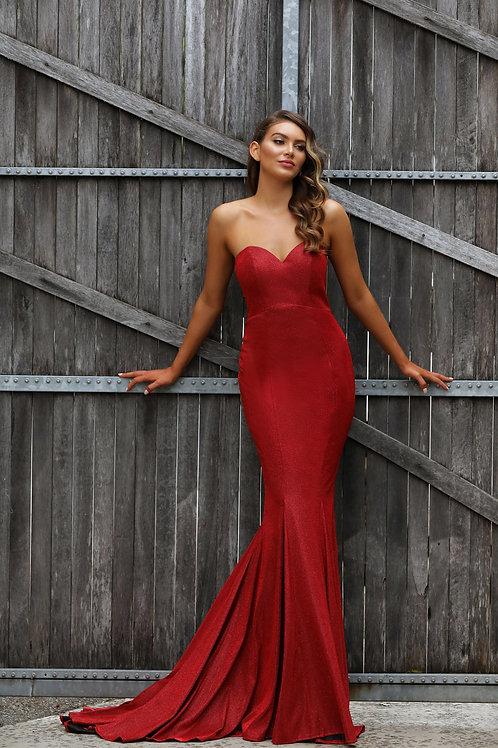 JX2107 - 澳洲品牌Jadore紅色閃粉晚裝