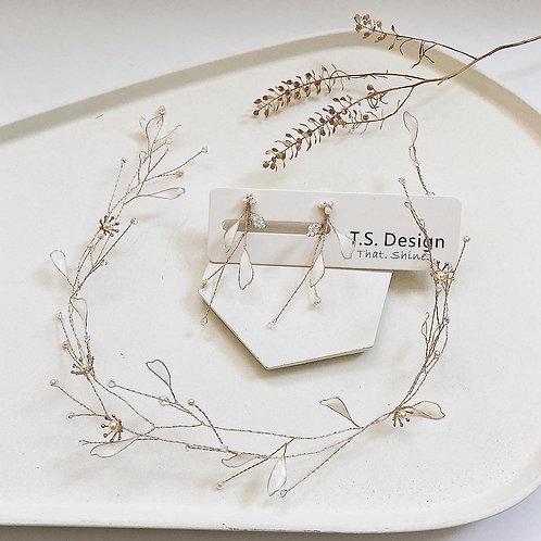 白葉花環 (需兩星期製作)