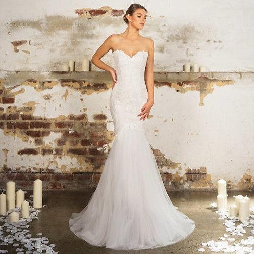CZ2414 -澳洲品牌Cizzy Bridal心形胸魚尾婚紗
