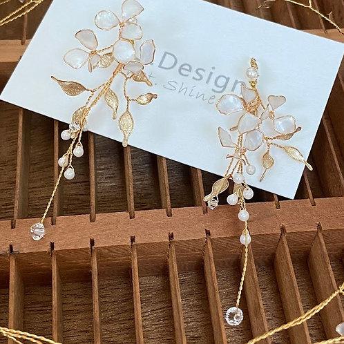 Jean's Creation薔薇花園 - 薔薇花耳環(針/夾)(需兩星期製作)