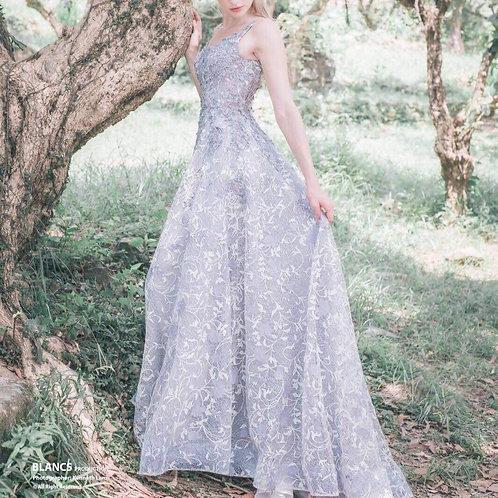 EGM014- 粉紫背心晚裝