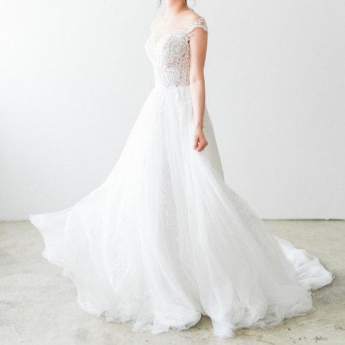 WA6043 - 澳洲品牌White April Bridal短袖A line婚紗