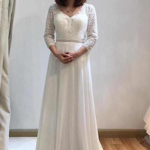 Giselle - Lace中袖a line輕婚紗