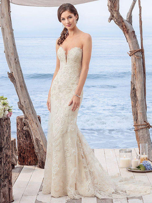 WGK005 - 品牌Casablanca Bridal心形胸魚尾婚紗