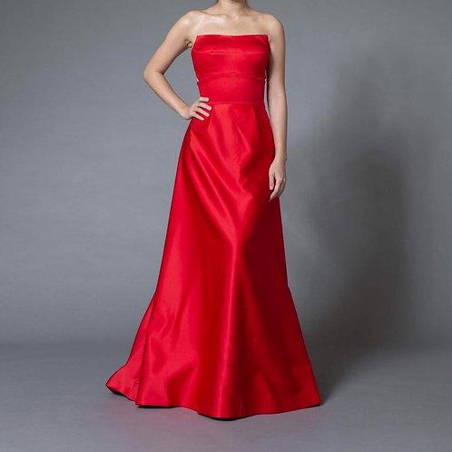 EGSF0515 - 紅色抹胸晚裝